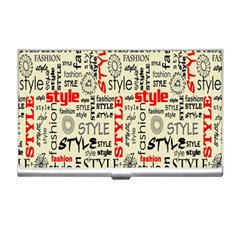 Backdrop Style With Texture And Typography Fashion Style Business Card Holders