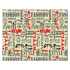 Backdrop Style With Texture And Typography Fashion Style Rectangular Jigsaw Puzzl