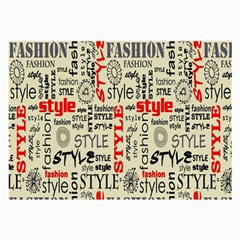 Backdrop Style With Texture And Typography Fashion Style Large Glasses Cloth (2 Side)