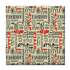 Backdrop Style With Texture And Typography Fashion Style Face Towel