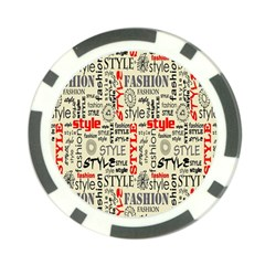Backdrop Style With Texture And Typography Fashion Style Poker Chip Card Guard (10 Pack)