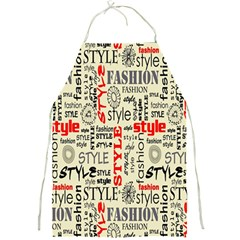 Backdrop Style With Texture And Typography Fashion Style Full Print Aprons
