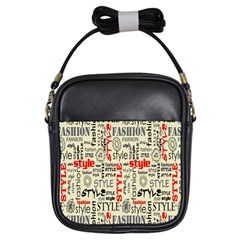 Backdrop Style With Texture And Typography Fashion Style Girls Sling Bags