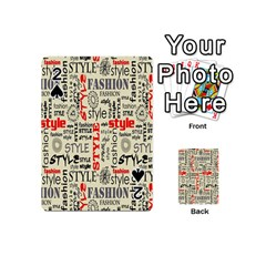 Backdrop Style With Texture And Typography Fashion Style Playing Cards 54 (mini)