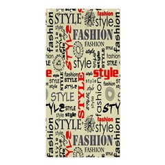 Backdrop Style With Texture And Typography Fashion Style Shower Curtain 36  X 72  (stall)