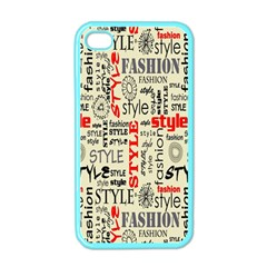 Backdrop Style With Texture And Typography Fashion Style Apple Iphone 4 Case (color)