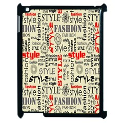 Backdrop Style With Texture And Typography Fashion Style Apple Ipad 2 Case (black)