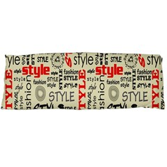 Backdrop Style With Texture And Typography Fashion Style Body Pillow Case Dakimakura (two Sides)