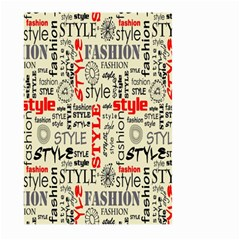 Backdrop Style With Texture And Typography Fashion Style Large Garden Flag (two Sides)