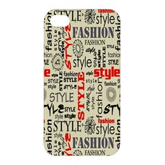 Backdrop Style With Texture And Typography Fashion Style Apple Iphone 4/4s Premium Hardshell Case