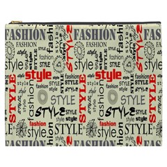 Backdrop Style With Texture And Typography Fashion Style Cosmetic Bag (xxxl)