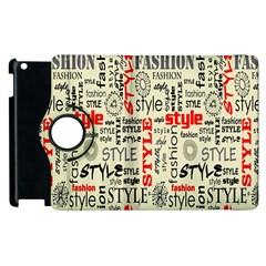 Backdrop Style With Texture And Typography Fashion Style Apple Ipad 3/4 Flip 360 Case