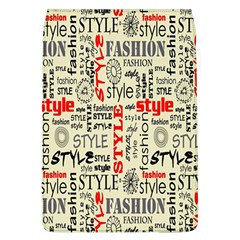 Backdrop Style With Texture And Typography Fashion Style Flap Covers (l)
