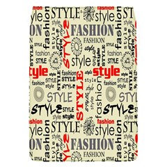 Backdrop Style With Texture And Typography Fashion Style Flap Covers (s)