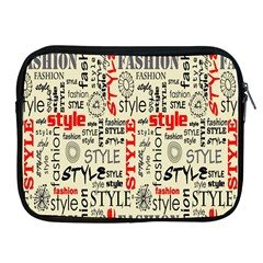 Backdrop Style With Texture And Typography Fashion Style Apple Ipad 2/3/4 Zipper Cases