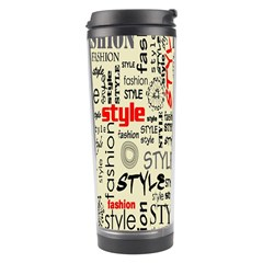 Backdrop Style With Texture And Typography Fashion Style Travel Tumbler