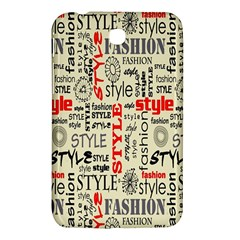 Backdrop Style With Texture And Typography Fashion Style Samsung Galaxy Tab 3 (7 ) P3200 Hardshell Case