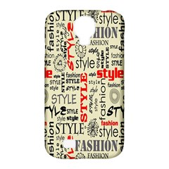 Backdrop Style With Texture And Typography Fashion Style Samsung Galaxy S4 Classic Hardshell Case (pc+silicone)