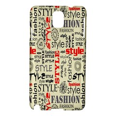 Backdrop Style With Texture And Typography Fashion Style Samsung Galaxy Note 3 N9005 Hardshell Case