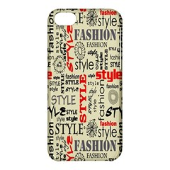 Backdrop Style With Texture And Typography Fashion Style Apple Iphone 5c Hardshell Case