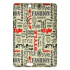 Backdrop Style With Texture And Typography Fashion Style Amazon Kindle Fire Hd (2013) Hardshell Case