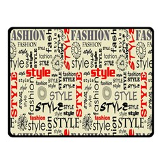 Backdrop Style With Texture And Typography Fashion Style Double Sided Fleece Blanket (small)