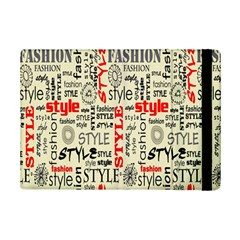 Backdrop Style With Texture And Typography Fashion Style Ipad Mini 2 Flip Cases