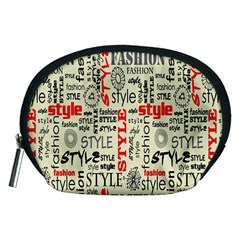 Backdrop Style With Texture And Typography Fashion Style Accessory Pouches (medium)