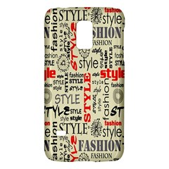 Backdrop Style With Texture And Typography Fashion Style Galaxy S5 Mini