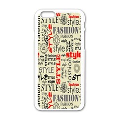 Backdrop Style With Texture And Typography Fashion Style Apple Iphone 6/6s White Enamel Case