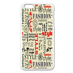 Backdrop Style With Texture And Typography Fashion Style Apple Iphone 6 Plus/6s Plus Enamel White Case