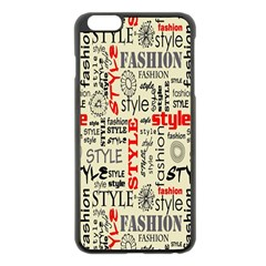 Backdrop Style With Texture And Typography Fashion Style Apple Iphone 6 Plus/6s Plus Black Enamel Case