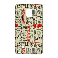 Backdrop Style With Texture And Typography Fashion Style Galaxy Note Edge