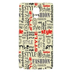 Backdrop Style With Texture And Typography Fashion Style Galaxy Note 4 Back Case