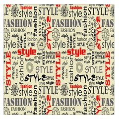 Backdrop Style With Texture And Typography Fashion Style Large Satin Scarf (square)