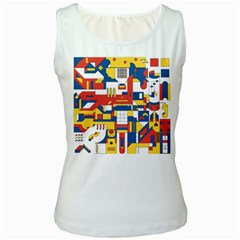Hide And Seek Women s White Tank Top