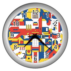 Hide And Seek Wall Clocks (silver)