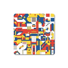 Hide And Seek Square Magnet