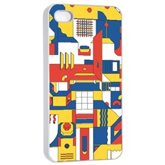 Hide And Seek Apple Iphone 4/4s Seamless Case (white)