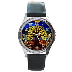 Tree Of Life Round Metal Watch