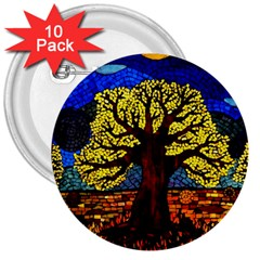 Tree Of Life 3  Buttons (10 Pack)