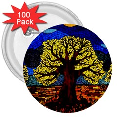 Tree Of Life 3  Buttons (100 Pack)