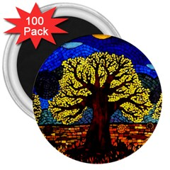 Tree Of Life 3  Magnets (100 Pack)