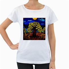 Tree Of Life Women s Loose Fit T Shirt (white)