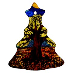 Tree Of Life Christmas Tree Ornament (two Sides)
