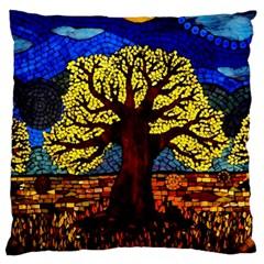 Tree Of Life Large Cushion Case (one Side)