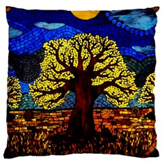 Tree Of Life Large Flano Cushion Case (two Sides)