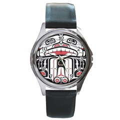 Ethnic Traditional Art Round Metal Watch