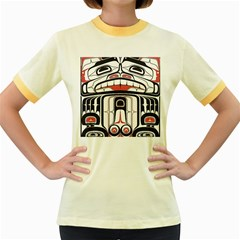 Ethnic Traditional Art Women s Fitted Ringer T Shirts