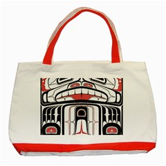 Ethnic Traditional Art Classic Tote Bag (red)